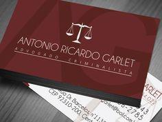 Cartão de visita advogados e advocacias. Design personalizado e material de diversos tipos de acabamentos.