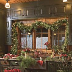 A Nature-Inspired Holiday. Warm Welcome. Use a variety of evergreen plant materials, such as boxwood, fir, pine, holly, and nandina. Clip some greenery from your garden or purchase it at a tree lot, and let's get started.