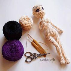 "240 Likes, 7 Comments - Guichai dolls (@guichaidolls) on Instagram: ""Again with #Alice #Pattern by  #Guichaidolls  Guichai.etsy.com   ทำงานต่อไป.. จะขยันทุกสิ้นเดือน…"""