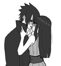 Sasuke Uchiha, Hinata Hyuga, Anime Naruto, Naruto Shippuden Anime, Naruto Art, Anime Girl Cute, Anime Art Girl, Anime Love, Tracing Art
