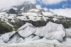 Week of Jun 13-19, 2015 Tarpaulins cover the Rhone glacier to slow the melting of ice near the Furka mountain pass in Switzerland on Wednesday. DOMINIC STEINMANN/EUROPEAN PRESSPHOTO AGENCY
