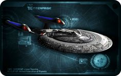 The Sovereign Class USS Enterprise which appeared in Star Trek The Next Generation Movies commander by Capt J Picard Uss Enterprise Ncc 1701, Star Trek Enterprise, Star Trek Voyager, Star Trek 1, Star Trek Ships, Star Trek Convention, Star Trek Universe, Marvel Universe, Star Trek Starships