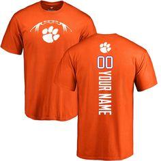 lowest price feb02 89532 Clemson Tigers Football Personalized Backer T-Shirt - Orange