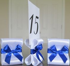 Wedding Table Number Holders Set of Ten 10 di ReservedSeating