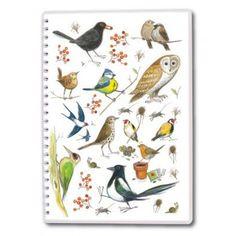A5 Wiro Bound Notebook - Bird Sketches