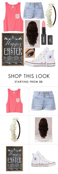 """""""Easter"""" by llmargaretll ❤ liked on Polyvore featuring Charlotte Russe, WigYouUp, Converse, women's clothing, women's fashion, women, female, woman, misses and juniors"""