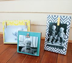 Scrap Wood Photo Blocks via Juggling Act Mama by Contributor Katie (View from the Fridge) #diy #modpodge