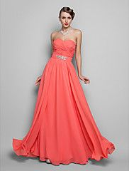 A-line/Princess Sweetheart Floor-length Chiffon... – USD $ 99.99