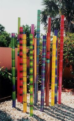 sculpture these are ceramic  -opt. steel or aluminium tubes painted with outdoor paint