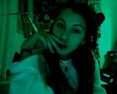green, grunge, girl