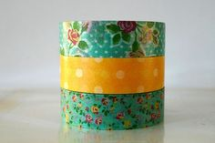 Japanese Washi tape - great for all sorts of things; taping up photos, gift packaging, party decorations... maybe even as a lampshade trim? hmmm...