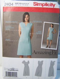 Simplicity 2404 Women's Sewing Pattern Misses' by WitsEndDesign