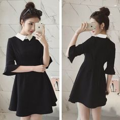 """Color:black. Size:free size. Length:83cm/32.37"""". Bust:84cm/32.76"""". Sleeve length:37cm/14.43"""". Shoulder:36cm/14.04"""". Fabric material:cotton. Tips: *Please double check above size and consider your meas"""