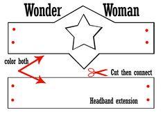 Wonder Woman headband printable--cut, color, and enjoy! #cerealheroes #superheroing