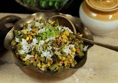 Beans And Matki Bhaji Recipe (Maharashtrian Green Beans And Sprouted Moth Beans)