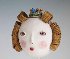 Princess Azure - details #ceramic #mask #sculpture