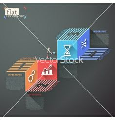 Flat infographic design vector by epic_fail on VectorStock®