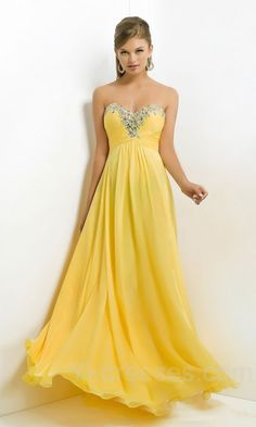 Dany Atrache - Spring 2016 Couture - 48 Yellow strapless maxi ...