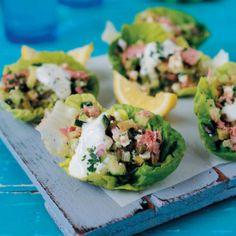 Tuna Salad #Starter #Recipe #Salad #SouthAfrica Birthday Menu, 20th Birthday, Lettuce Cups, Tuna Salad, Great Recipes, Easy Recipes, Feta, Potato Salad
