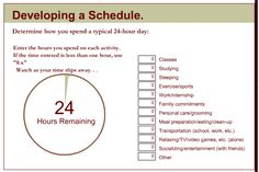 Gallery For > Time Management Chart For College Students