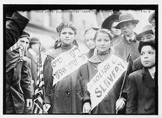 Labor Day Parade, children in Child Labor demonstration, New York 1909