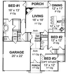 Plan W40497DB: Narrow Lot, Traditional, Cottage House Plans & Home Designs