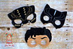 Black Panther Inspired Masks Felt Panther Mask Erik Killmonger Birthday Party Idea