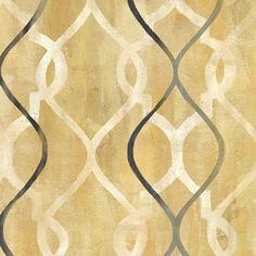 Abstract+Waves+Black/Gold+Tiles+II+at+FramedArt.com