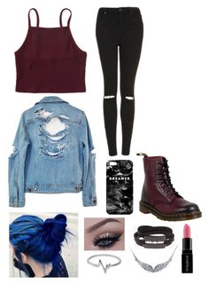 """""""Dreamer"""" by yoitsmeg87 ❤ liked on Polyvore featuring Aéropostale, High Heels Suicide, Dr. Martens, Mr. Gugu & Miss Go, Topshop, Jewel Exclusive, McQ by Alexander McQueen, BERRICLE and Smashbox"""