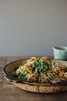 Ginger roasted pumpkin + quinoa salad w/ mint, chilli + lime {gluten-free, vegan} | by My Darling Lemon Thyme
