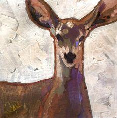 """Doe Eyes"" - Originals - All Artwork - Peggy Judy Doe Eyes, Palette Knife Painting, Wildlife Art, Community Art, Animal Paintings, Art World, Painting & Drawing, Cool Art, Art Projects"