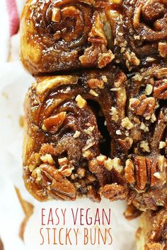 Vegan Sticky Buns! 9 ingredients, 1 rise and SO ridiculously sticky delicious