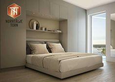 Platsbyggd garderob i sovrum