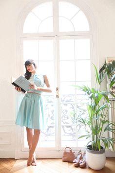 pale blue dress