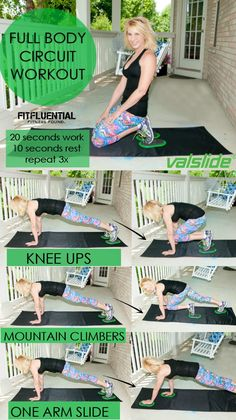 Full body circuit workout from  @fitfluential with @ValerieWaters #fitfluential #valslide