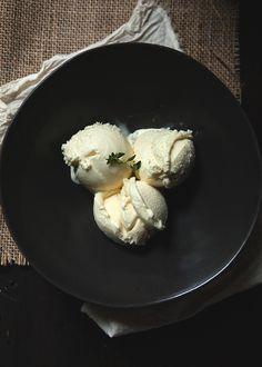 honey thyme ice cream.