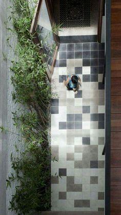 #patio #damero #floor
