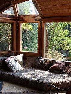 Reading corner with nature
