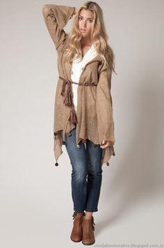 Capas tejidas invierno 2013 moda mujer