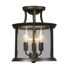 Galaxy Lighting 612308 Huntington Semi Flush Ceiling Light $199