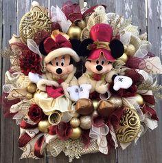 Disney Christmas Wreath Disney Christmas Mickey & by BaBamWreaths