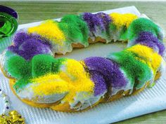 Mardi Gras King Cake by Gambino's Famous Bakery on Gentology!