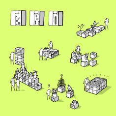 Information Portal / CEBRA,© CEBRA.  Pixel Furniture