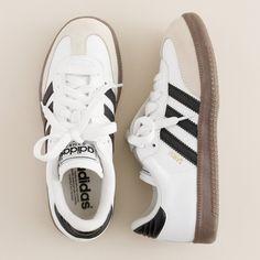J.Crew Kids' Adidas® white Samba® sneakers ($50) via Polyvore