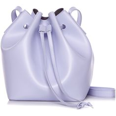 Rachael Ruddick Beach Bucket Bag ($335) ❤ liked on Polyvore featuring bags, handbags, shoulder bags, genuine leather handbags, rachael ruddick, lilac handbag, 100 leather handbags and real leather handbags