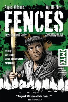 Fences l by August Wilson, directed by Derrick Sanders, Marin Theatre Company, Apr 10 - May 11, 2014. Illustration and design by Jeff Berlin.
