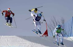 trois médailles pour la France, avec un triplé en ski cross. L'or pour Jean-Fréderic Chapuis, l'argent pour Arnaud Bovolenta et le bronze po...