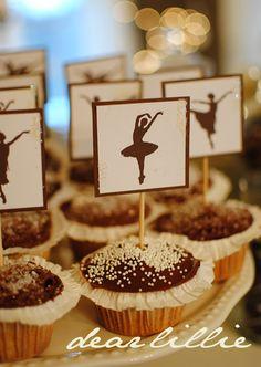 Lillian Annabel's Birthday Party by Dear Lillie Ballerina Birthday Parties, Ballerina Party, First Birthday Parties, 5th Birthday, Ballerina Barbie, Angelina Ballerina, Kid Parties, Birthday Ideas, Ballerina Cupcakes