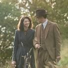 A day ahead of Valentine's Day, Starz has released this still for Ron Moore's adaptation of Diana Gabaldon's  Outlander  series. And with its emphasis on Claire Randall (Caitriona Balfe) and her husband Frank (Tobias Menzies), I can't help but wonder if Starz has another photo planned to drop tomorrow, giving us a new glimpse of Claire with Jamie (Sam Heughan), her other love interest in the story.