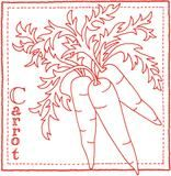 Fresh Crop Redwork Quilt Pattern - StoryQuilts.com